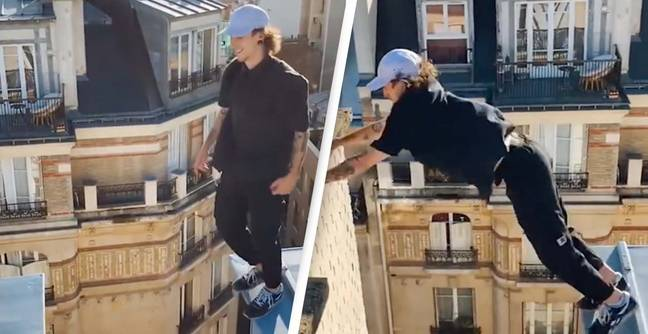 Death-Defying Rooftop Stunt Has People Freaking Out