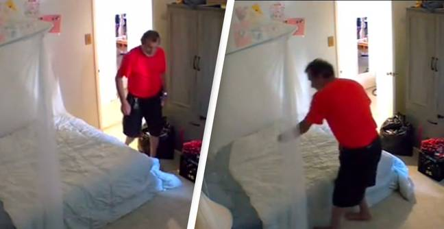 Woman Discovers Landlord Sneaking Into Her Room And Sniffing Her Sheets