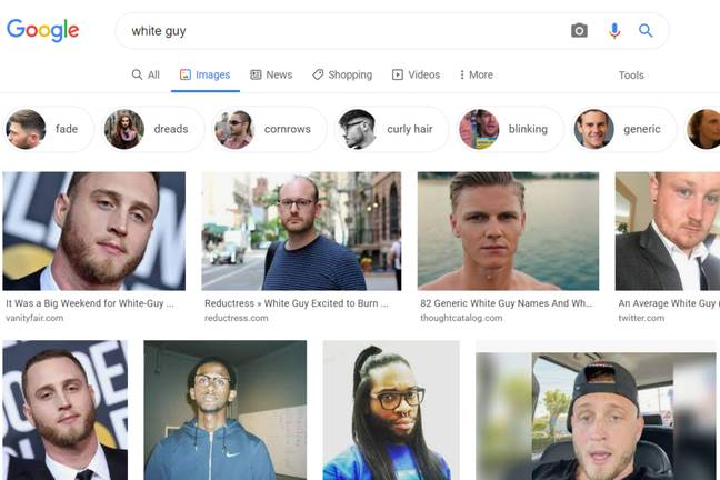 Google Images' second top White Guy has spoken out (Google Images)