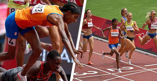 Olympic Athlete Falls On Final Lap And Still Wins 1,500m Race