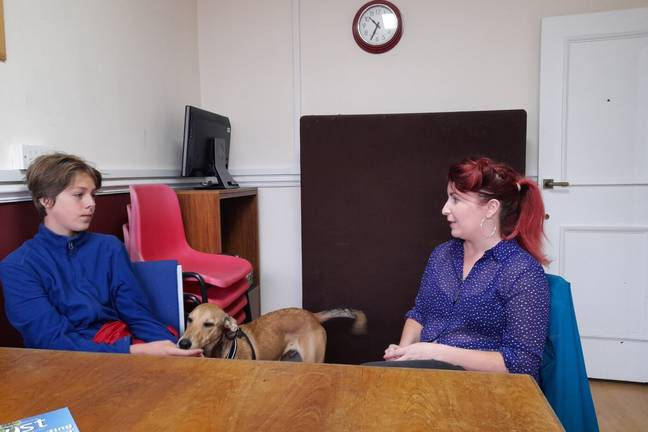 Jude with MP Louise Haigh (Tamsin Walker)