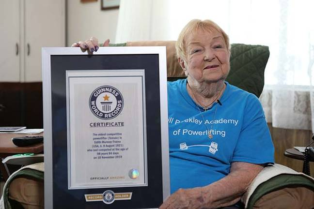 Edith Murway-Traina is the world's oldest powerlifter. (Guinness World Records)
