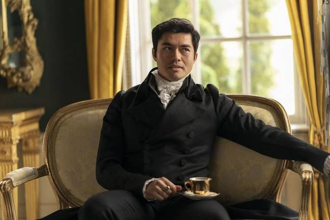 Henry Golding in Persuasion. (Netflix)