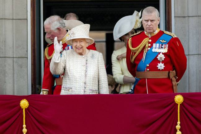 The Queen is standing by Prince Andrew (PA Images)