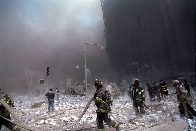 First responders at Ground Zero (PA Images)