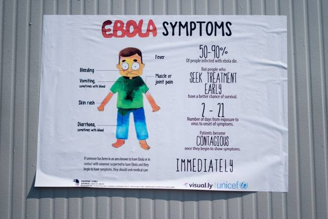 Ebola virus information in the Congo (PA Images)