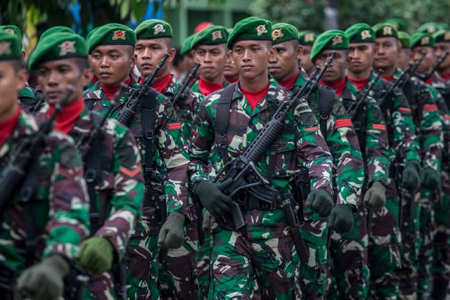 Indonesia: Celebrate to Mark the 74th Anniversary of The Indonesian Military in Palu, Central Sulawesi - INA Photo Agency/SIPA USA/PA Images