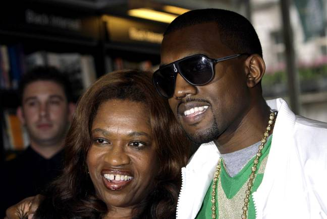 Kanye West with his mother Donda at a signing for her book 'Raising Kanye', at Waterstone's in Piccadilly, central London. -Yui Mok/PA Archive/PA Images
