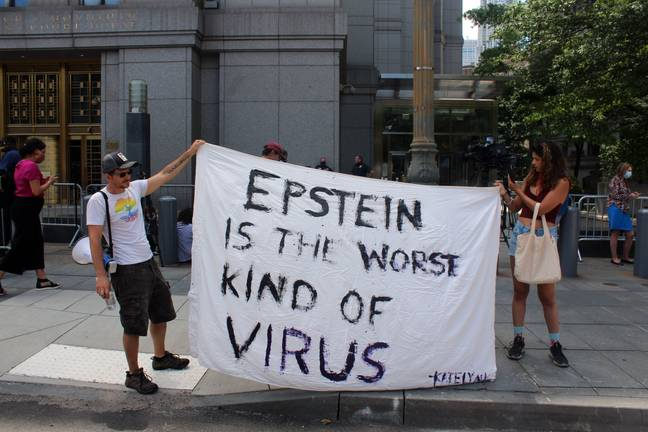 Epstein protesters (PA Images)