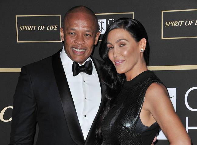 Dr Dre and Nicole Young. (PA Images)