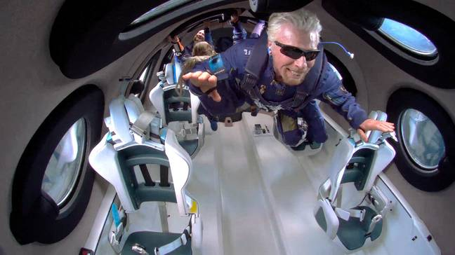 Richard Branson in space (PA Images)