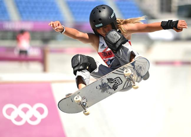 Sky Brown competes in skateboarding final (PA)