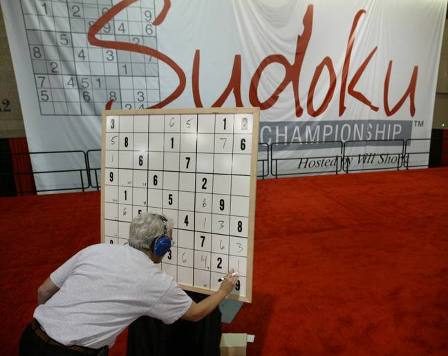 There's a world sudoku championship every year. (PA Images)