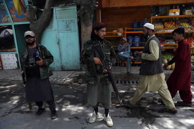 Taliban fighters in Kabul (PA Images)