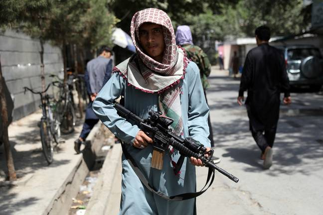 A Taliban fighter in Kabul (PA Images)