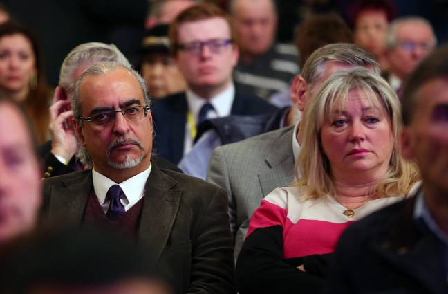 File photo dated 27/2/15 of former Channel 4 Gogglebox stars Andrew and Carolyne Michael attend the Ukip spring conference at the Winter Gardens Theatre in Margate, Kent. It has been announced that Gogglebox star Andy Michael passed away last weekend at the age of 61 following a short illness. Retired hotelier Andy was one of the show's original cast members, appearing in the very first episode in 2013 -Gareth Fuller/PA Wire/PA Images