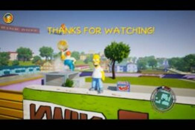 The Simpsons Hit & Run Remake - YouTube/reubs