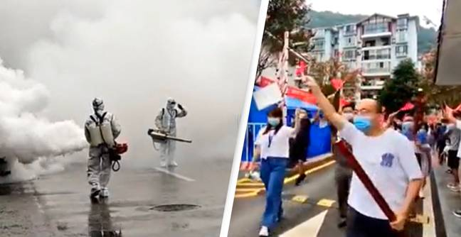 Chinese Streets Sprayed With Disinfectant As Month-Long Covid Lockdown Lifts