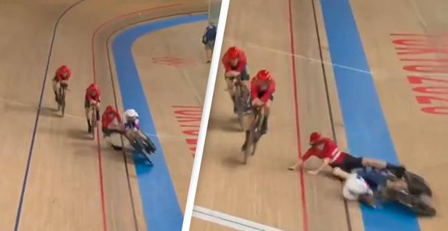 Danish Cyclist Wipes Out Brit Athlete After 'Not Looking Where He's Going'