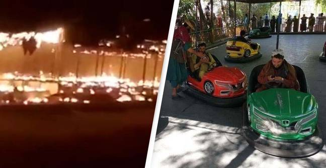 Afghanistan: Taliban Set Amusement Park On Fire One Day After Footage Circulated Of Militants Riding Dodgems