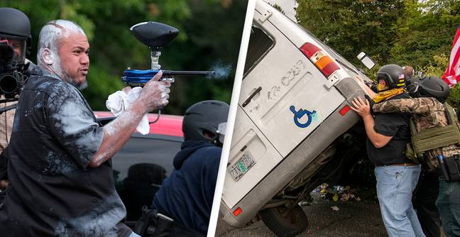 Proud Boys Use Makeshift Weapons To Terrorise Portland As Opposing Sides Clash