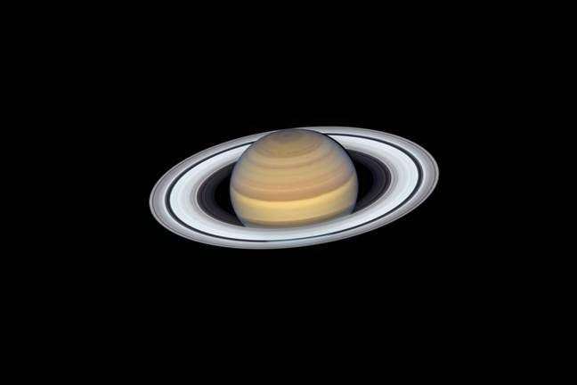 Saturn viewed by the Hubble telescope (NASA)