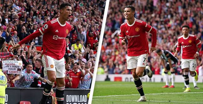 Cristiano Ronaldo Just Scored On His Second Manchester United Debut And Old Trafford Went Wild