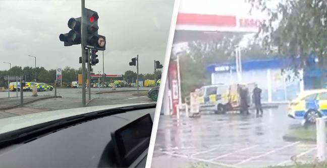 'Bangs And Flashes' At Bristol Petrol Station As Police Confront Knife Attacker