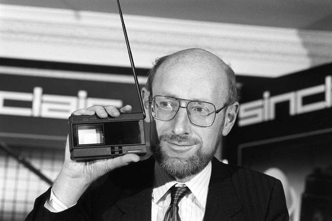 File photo dated 16/10/83 of Sir Clive Sinclair, founder and chairman of Sinclair Research, at the launch of the Sinclair 2-inch pocket television. Home computing pioneer Sir Clive Sinclair has died at the age of 81, according to reports. Issue date: Thursday September 16, 2021.