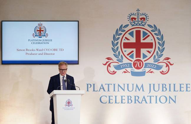 Simon Brooks-Ward, Producer and Director, speaking during the media launch for the Queen's Platinum Jubilee celebration at the Royal Mews, Buckingham Palace, London. In 2022 Queen Elizabeth II will become the first British Monarch to celebrate a Platinum Jubilee - seventy years of service - having acceded to the throne on 6th February 1952. Picture date: Tuesday September 21, 2021