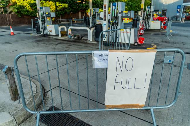 London, UK. 26th Sep, 2021. No Fuel - Fuel shortages escalate due to panic buying, as Sainsburys runs out. Credit: Guy Bell/Alamy Live News