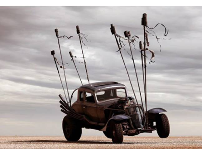 The Nux car from Mad Max: Fury Road (Lloyds/Warner Bros.)