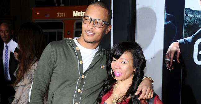 """T.I. and Tiny arrive at the film premiere for """"Gangster Squad"""" at the Chinese Theatre in Hollywood, USA January 7th 2013"""
