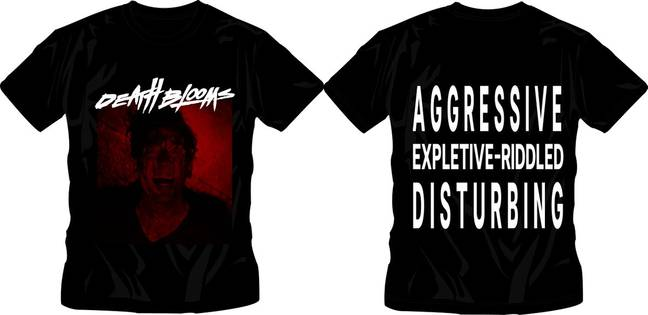 Death Blooms have released a t-shirt to mark the host's comments. (Death Blooms)