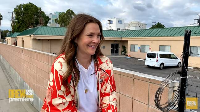 Drew Barrymore looked back on the psychiatric ward with 'honour and humour.' (CBS)