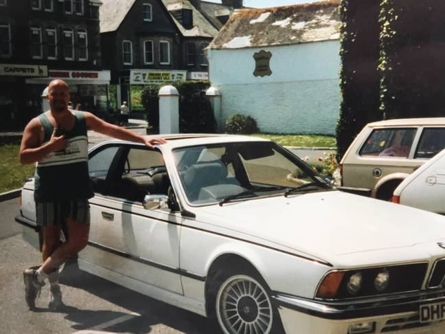 Garry Rodgers next to car (Supplied)