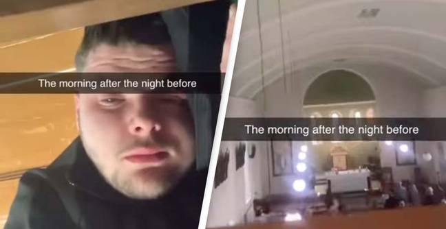 Man Wakes Up After Night Out In The Middle Of A Church Service 2