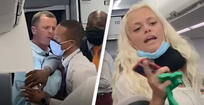 'Drunk' Man Grabs And Shoves Flight Attendant During Furious Fight Over Wearing A Mask