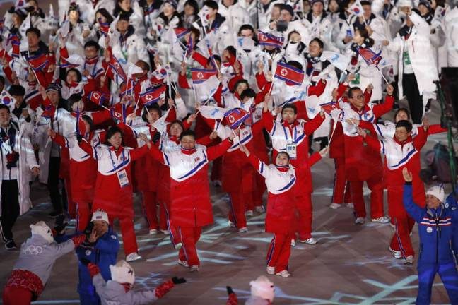 North Korean Olympic athletes (PA Images)
