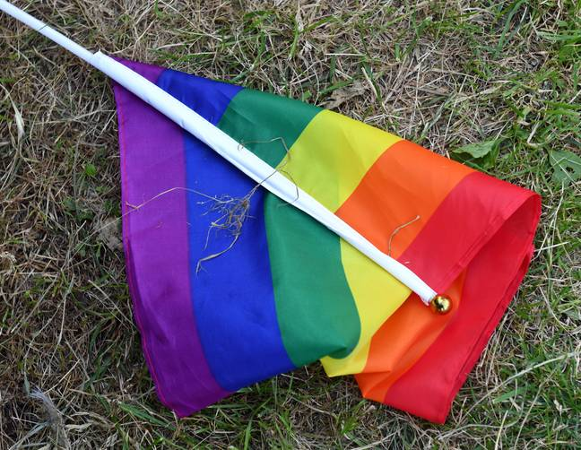 LGBT flag laying on the ground during Krakow Equality March, attended by over 5,000 people. - SOPA Images/SIPA USA/PA Images