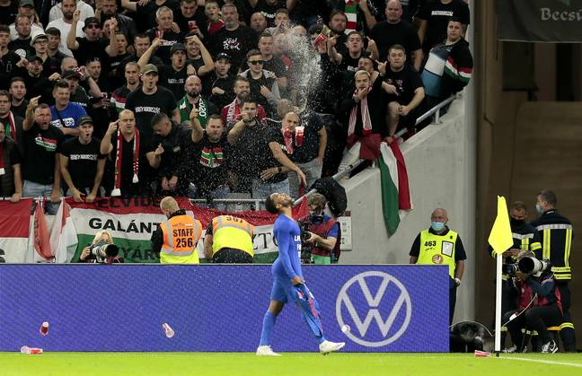 Raheem Sterling gets abuse in Hungary (PA)