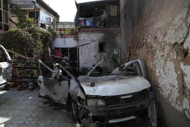 Site of the US airstrike in Kabul. (PA Images)