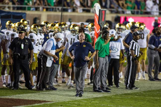 Notre Dame Fighting Irish coach Brian Kelly (PA Images)