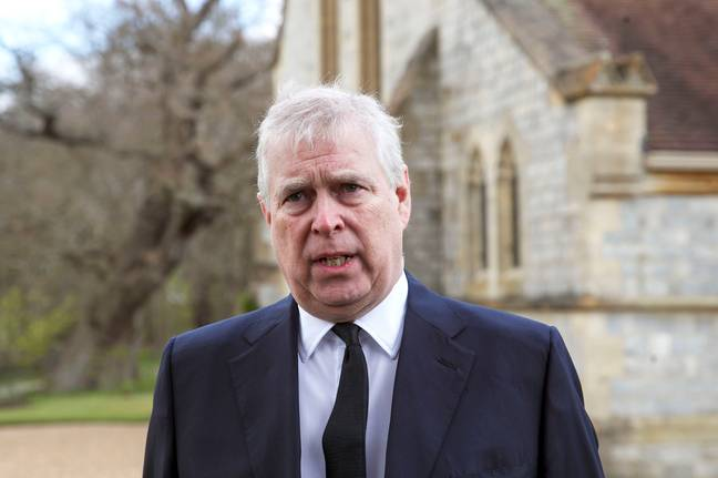FILE - In this Sunday, April 11, 2021 file photo, Britain's Prince Andrew speaks. during a television interview at the Royal Chapel of All Saints at Royal Lodge, Windsor, England, Sunday, April 11, 2021. A U.S. court will hold a pretrial conference Monday, Sept. 13, 2021 in the civil suit filed by a woman who claims Prince Andrew sexually assaulted her as the two sides argue over whether the prince has been properly served with documents in the case. Attorneys for Virginia Giuffre say the documents were handed over to a Metropolitan Police officer on duty at the main gates of Andrew's home in Windsor Great Park on Aug. 27. -Steve Parsons/AP/Press Association Images