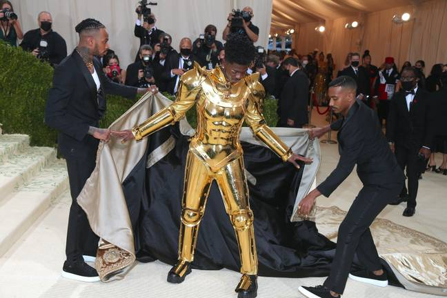 Lil Nas X at the Met Gala (PA Images)