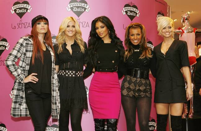 The Pussycat Dolls during the launch of their lingerie range 'Shhh... by Robin Antin' at La Senza in Marble Arch, central London. - Suzan Moore/EMPICS Entertainment