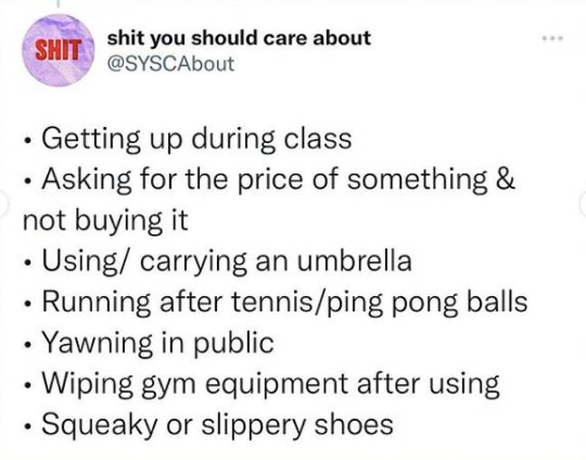 Hilariously Accurate List Of Things That Are Embarrassing For Literally No Reason Whatsoever (@shityoushouldcareabout/Instagram)