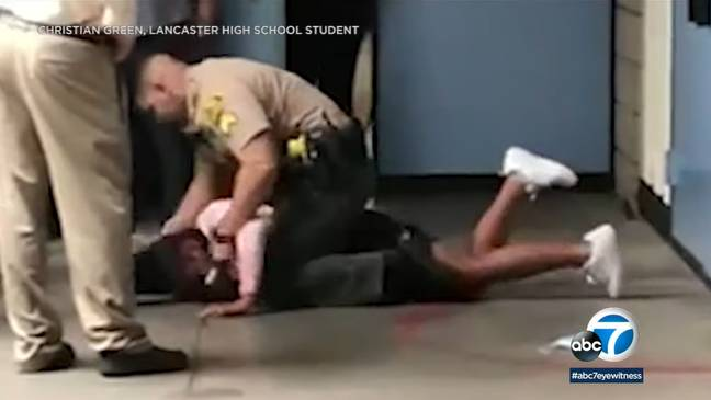 The teen was body-slammed and restrained. (ABC 7)
