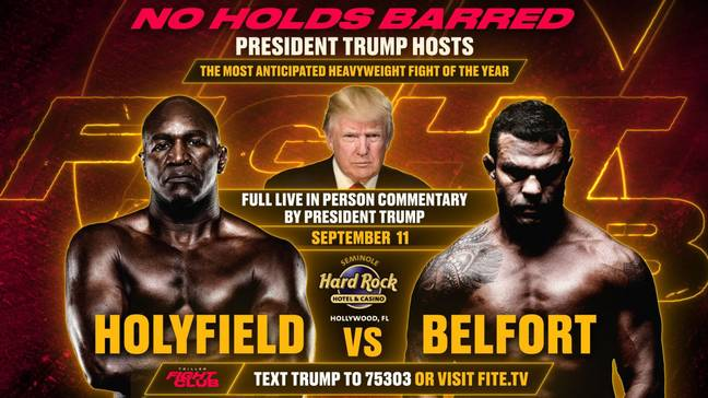 Donald Trump will commentate on the two fights. (Triller)