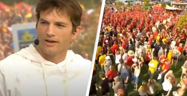 Ashton Kutcher Drowned Out By College Football Fans' 'Take A Shower' Chant